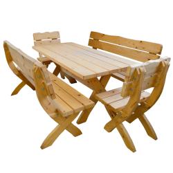 komplet ogrodowy /2 krzesła,2ławki,stół/