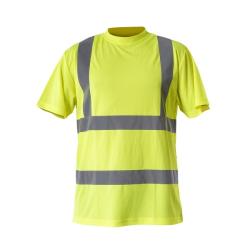 "koszulka t-shirt ostrzegawcza ""m"" żółta lahtipro"