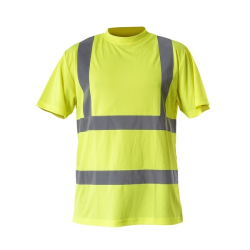 "koszulka t-shirt ostrzegawcza ""l"" żółta lahtipro"