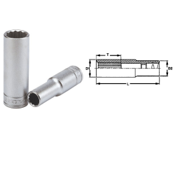 """nasadka z chwytem 1/2"""" 17mm 12-kątna teng tools"""
