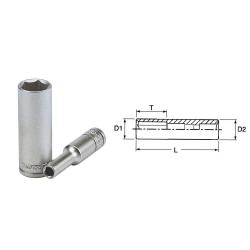 """nasadka z chwytem 1/4"""" 7mm 6-kątna teng tools"""