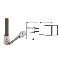 """teng tools nasadka trzpieniowa długa 6-kątna 8mm z chwytem 1/2"""" 117450403"""