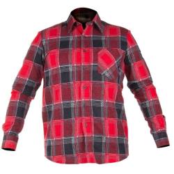 """lahtipro koszula flanelowa czerwona """"xxl"""" lpkf12xl"""