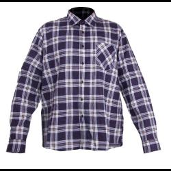 """koszula flanelowa granatowo-beżowa """"m"""" lahtipro"""