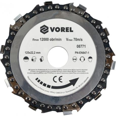 VOREL TARCZA ŁAŃCUCHOWA 125mm