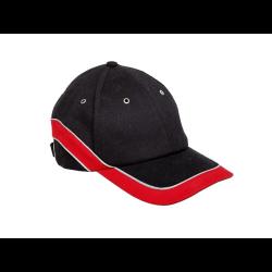 lahtipro czapka bejsbolówka z daszkiem czarno-czerwona l1010300