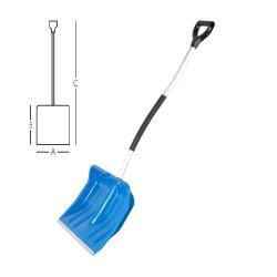 łopata do śniegu smart 48 ergo alu niebieska