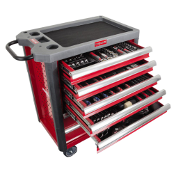 szafka narzędziowa 7 szuflad z wyposaż. 206 elementów