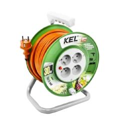 przedłużacz bębnowy standard line 4x2p+z, 16a,3680w, przew. 3x1,5mm, h05vv-f, pb-st/s/30m/3x1,5