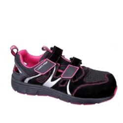 """lahtipro sandały damskie zamszowo-dzianinowe czarno-różowe rozmiar """"37"""" l3060437"""