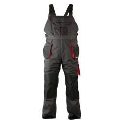"lahtipro spodnie robocze na szelkach ""l"" (52) szaro-czarne 267g/m2 lpsr0252"