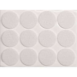 podkładki filcowe fi 28mm białe