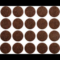 podkładki filcowe fi 20 brązowe