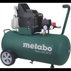 sprężarka basic 250-50w , 50 l , 8 bar , 230 v , wydajność na ssaniu 200 l/min metabo