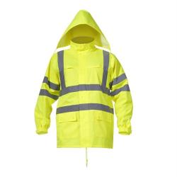 """kurtka ostrzegawcza przeciwdeszczowa """"m"""" żółta lahtipro"""
