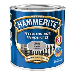 hammerite połysk 0,7l srebrny