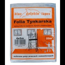 FOLIA TYNKARSKA 4x5m BLUE DOLPHIN