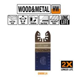 cmt brzeszczot oscylacyjny 35x40mm 20tpi uchwyt uniwersalny omm14-x1