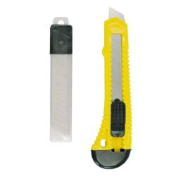 mega nóż z ostrzem łamanym 150x18mm + 10 ostrzy 30019
