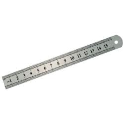 mega przymiar stalowy sztywny 330x28mm dwustronnie skalowany 22030