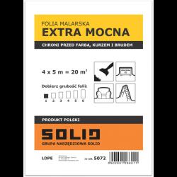 folia malarska extra mocna słomka 4x5m solid