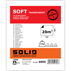 folia malarska soft transparent 4x5m solid
