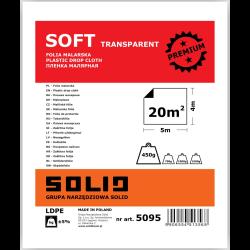 folia malarska soft transparent 4x5m solid