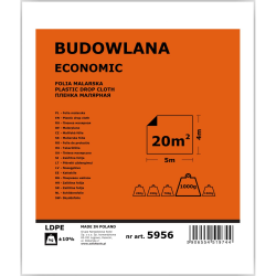 folia malarska budowlana economy 4x5m partner
