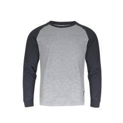 """lahtipro koszulka z długim rękawem szaro-czarna rozmiar """"m"""" l4022302"""
