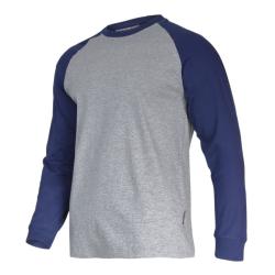 """lahtipro koszulka z długim rękawem 190g/m2 szaro-granatowa rozmiar """"xl"""" l4022404"""