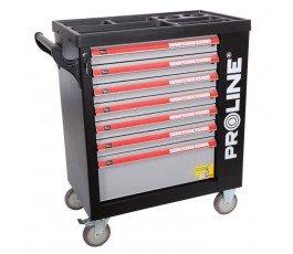 szafka narzędziowa 7 szuflad 79x49x101cm z wyposażeniem 206 elementów proline