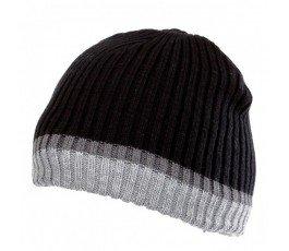 czapka akrylowa z ociepliną czarno-szara lahtipro