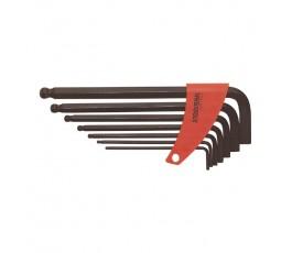 komplet kluczy imbusowych z kulką 2,5-10mm teng tools