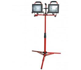 podwójna lampa halogenowa statyw/przenośna 2x500w proline