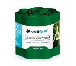 cellfast obrzeże ogrodowe 15cmx9m ciemna zieleń 30-022