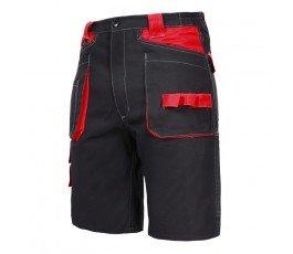 """lahtipro spodenki krótkie czarno-czerwone 100% bawełna rozmiar """"s"""" l4070401"""