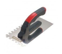 proline paca nierdzewna 270x130mm z zębami 4x4mm z rączką plastikową otwartą 61521