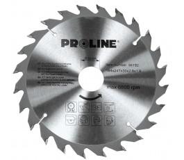 proline piła tarczowa do drewna 184mm 24 zęby 84182