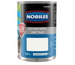 """nobiles farba alkidowa """"ftalonal"""" 0,9l biała z połyskiem"""