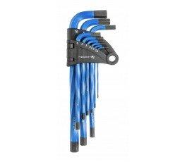 hogert zestaw 9 kluczy 6-kątnych skręconych ht1w805