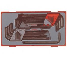 teng tools zestaw 28 kluczy trzpieniowych 6-kątnych 128250107