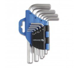 hogert zestaw 9 kluczy imbusowych sześciokątnych extra długich ht1w808