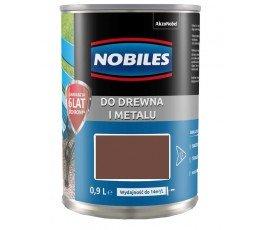 """nobiles farba alkidowa """"ftalonal"""" 0,9l brązowa czekoladowa"""