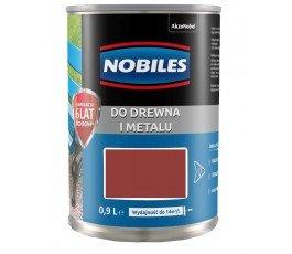 """nobiles farba alkidowa """"ftalonal"""" 0,9l jasnoczerwona 5180558"""