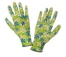 lahtipro rękawice zielone powlekane nitrylem rozmiar m (8) ce l220408k