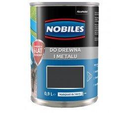 "nobiles farba alkidowa ""ftalonal"" 0,9l czarna"