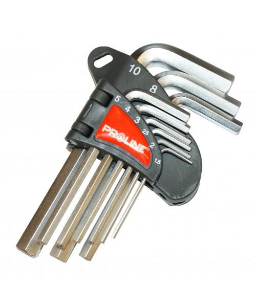 KOMPLET KLUCZY IMBUSOWYCH 9 SZTUK (1.5-10mm) , PROLINE