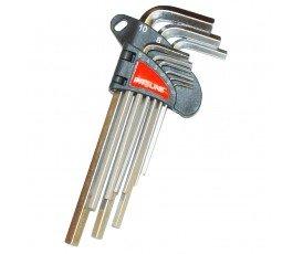 proline komplet 9 kluczy imbusowych 1,5-10mm sześciokątnych wydłużonych crv 48319