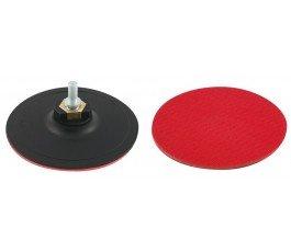proline dysk gumowy 125mm gwint m14 z rzepem + adapter do wiertarki 27037