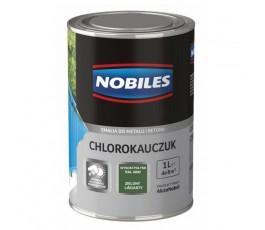 nobiles emalia chlorokauczukowa zielona liściasta 1l  ral 6002